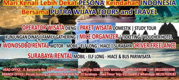 Agen Tour Travel, Biro Wisata, Sewa Mobil, MICE Organizer, Driver Freelance Putra Wijaya