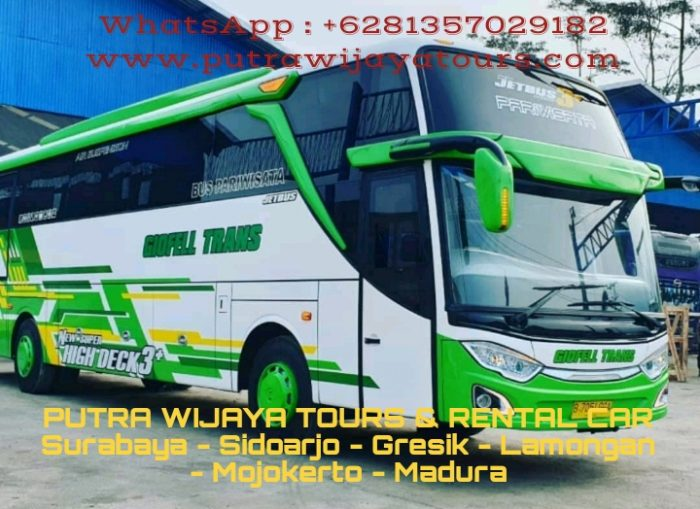 Sewa Bus Pariwisata Giofell Trans Surabaya